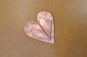 Copper Brooch Heart