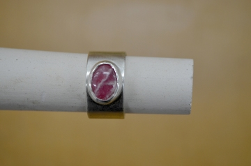 Unique rhodochrosite ring